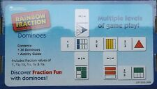 FRACTION DOMINOES  maths games  age 6yrs+ BNIB 36 dominoes and activity guide