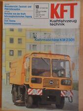KFT KRAFTFAHRZEUGTECHNIK 10/1981 5* Kehrmaschine KM 2301 TAKRAF VW Scirocco