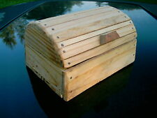 RUSTIC WOOD JEWELRY BOX , PIRATE CHEST DESIGN HAND MADE MULTI-PURPOSE CRAFT BOX