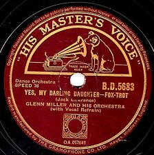 "RARE GLENN MILLER 78 ""YES MY DARLING DAUGHTER""/ ""JOHNSON RAG"" UK HMV BD 5683 EX-"