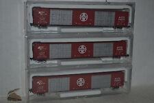 3 Con-Cor Santa Fe 85' Hi-Cube Autoparts Boxcars N scale