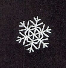 Iron On Embroidered Applique Patch Christmas Small White Snowflake 1.25""