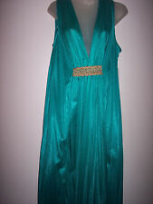 4-X 8204 JADE 100% NYLON LONG NIGHT GOWN NEW WITH TAG #G -558