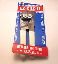 EZ-DUZ-IT #88 American Made Deluxe Can Opener.  Made in USA.  White.