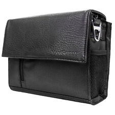 Black PU Leather / Nylon DSLR Camera Case Bag for Nikon / Canon / Sony / Casio