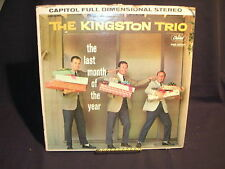 The Kingston Trio The Last Month Of The Year G+/G Free Shipping