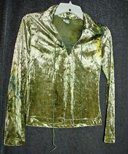 Vtg 90s green crush velvet top Sz Small