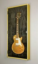 Les Paul gold top guitar vitrine cabinet