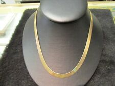 NEW 14K SOLID GOLD Herringbone Necklace 6.7mm Wide 14.47 GRAMS