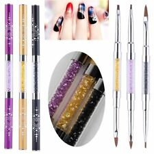 3 Stück Set Gelpinsel & Acrylpinsel Nagel Pinsel Nail Art  Nageldesing Gel Brush