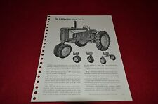 John Deere 430 Tricycle Tractor Specification Sheet HVPA