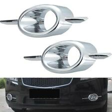 2Pcs L/R ABS Chrome new Front Fog Lamp Cover for Chevrolet CRUZE 2009-2012 W0B8