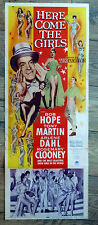 """US INSERT 14x36"""", HERE COME THE GIRLS, BOB HOPE, comédie musicale"""