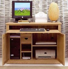 Nara SOLID OAK Hidden Home Office COMPUTER DESK