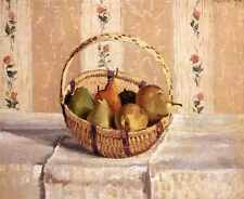 Pissarro Camille Still Life Apples And Pears In A Round Basket A3 Box Canvas