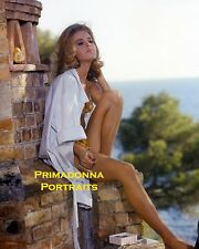 JANE FONDA 8x10 Lab Color Photo 1960'S Menswear Sexy Leggy Swimwear Summer Day
