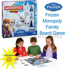 FROZEN MONOPOLY JR BOARD GAME HASBRO DISNEY KIDS GIRLS CHRISTMAS GIFT ELSA ANNA