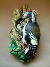 Bossons Vintage Handpainted Chalkware Wall Bust Woodpecker #47 1968 England