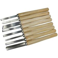 8pc WOOD LATHE CHISEL SET TURNING MODEL MAKER STEEL