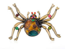 Fashion Super Large Enamel Paint Crystal Spider Insect Fashion Pin Brooch