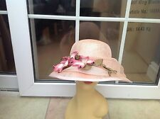 LADIES PEACH HAT FOR WEDDINGS/RACES/SPECIAL OCCASIONS,PRISTINE COND BY HAT BOX