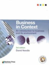 Business in Context : An Introduction to Business and its Environment by...