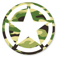 2 x Army Vehicle Stars Camouflage Military Cool car, van decal sticker