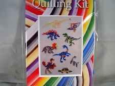 COMPLETE QUILLING KIT WITH TOOL + PAPER + INSTRUCTIONS DINOSAURS KD 9