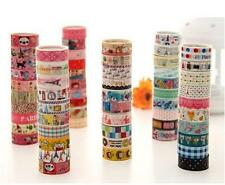 HOC 10 Rolls Kawaii Lovely Deco Cartoon Tape Scrapbooking Adhesive Paper Sticker