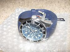 NEW NWT *NAUTICA* Men's Watch A12024G Chronograph $185 Stainless Steel Navy