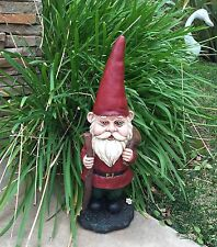 "New 15"" Garden Gnome with Walking Stick"