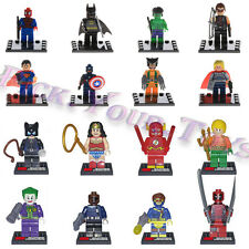 HOT 16 Lots Avengers Deadpool DC COMICS Marvel Minifigures Building Blocks Toys