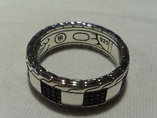 John Hardy Men's Sterling Silver Classic Chain Slim Band Ring Checkerboard