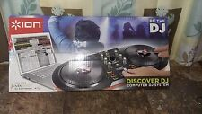 ION Discover DJ USB DJ controller for Mac and PC, Mix and Scratch Music, NEW