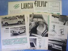 QUATTROR963-PROVA SU STRADA/ROAD TEST-1963- LANCIA FULVIA - 12 fogli