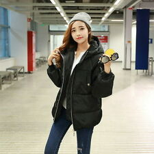Women Cotton Winter Coat Hooded Zip Up Loose Puffer Quilted Jacket Outerwear  %