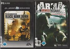ARMA Armed Assault + Delta Force BLACK HAWK DOWN Sammlung PC Spiele