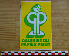 Autocollant sticker des années 1980, Galeries du papier peint