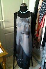 COP COPINE  Superbe robe longue noir et bleue   TAILLE 38