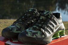 NIKE SHOX NZ JCRD SZ 10.5 GREEN PULSE BLACK ELECTRIC GREEN 807230 300