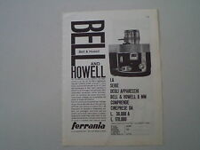 advertising Pubblicità 1960 BELL & HOWELL 414 ZOOMATIC