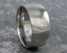 Wide Titanium Ring Fashion or Wedding 10mm Custom Made to ANY Sizing 3-22s