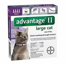Bayer Advantage II Flea Control Treatment for Cats Over 9Lbs 4 pack