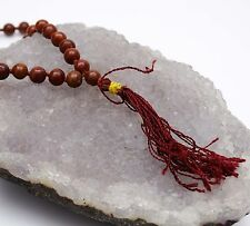 Red Jasper Japa Mala Prayer 109 Beads Rosary Meditation Reiki Chakra Gemstones