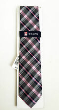 BNWT Authentic CHAPS By RALPH LAUREN Men's Necktie Pink Plaid $36 FREE SHIP
