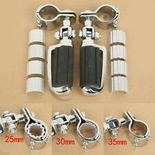 Footrest Foot Pegs W/ Support Clamps For SUZUKI VL1500 800 125 250 VS1400 VZ1500