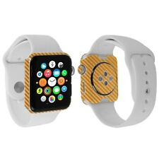 Skinomi Gold Carbon Fiber Skin+Screen Protector for Apple Watch 42mm Series 2