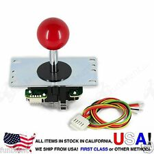 Sanwa Original Japan Arcade Joystick JLF-TP-8YT with Red Ball Top stick mod