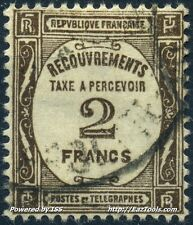FRANCE TIMBRE TAXE N° 62 AVEC OBLITERATION