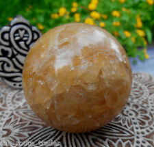 AA++ HIMALAYAN CITRINE (YELLOW QUARTZ) CRYSTAL SPHERE/BALL FOR WEALTH ATTRACTION